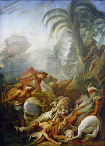Boucher / Tiger Hunt / Painting / 1736 by AKG  Images