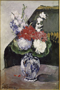 P.Cézanne / Flowers in Small Delft Vase. by AKG  Images