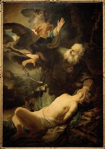 Rembrandt, Abrahams Opfer / Leningrad von AKG  Images