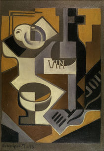Juan Gris, Still Life with Wine Bottle by AKG  Images