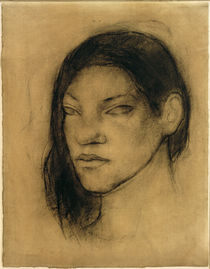Portrait of a Tahitian Woman / P.Gauguin / Drawing, c.1891 by AKG  Images