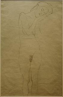 G.Klimt, Mädchenakt von vorne (Studie) by AKG  Images