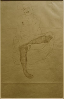 G.Klimt, Sitzender weiblicher Halbakt by AKG  Images