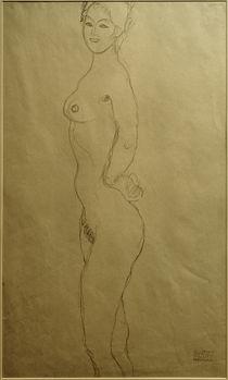 G.Klimt, Stehender weiblicher Akt (Studie) by AKG  Images