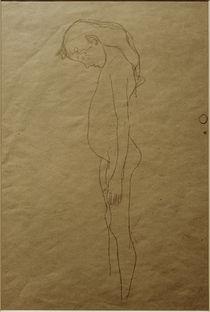 G.Klimt, Mädchenakt mit gesenktem Kopf von AKG  Images