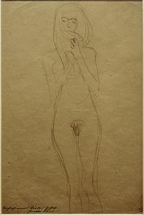 G.Klimt, Stehender weiblicher Akt by AKG  Images
