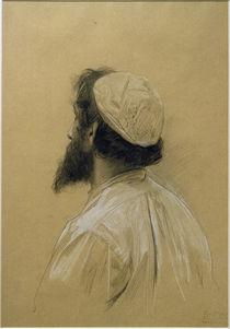 G.Klimt, Bärtiger jüngerer Mann m. Kappe von AKG  Images