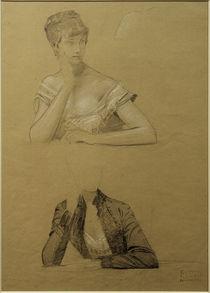 G.Klimt, Zwei Studien einer jungen Frau von AKG  Images