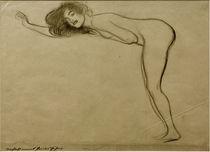 G.Klimt, Stehender Mädchenakt (Skizze) by AKG  Images
