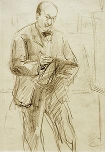 Max Liebermann / Selbstbildnis, zeichnend von AKG  Images