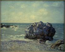 A.Sisley,Storr's Felsblock in der Langland-Bucht von AKG  Images