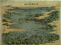 Japan, Matsushima-Bucht / Hokusai, Farbholzschnitt 1824–33 von AKG  Images