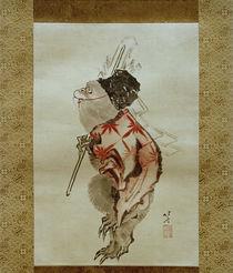 Shintoismus: Dressierter Affe / Hokusai um 1807 und 1813 von AKG  Images