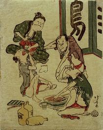 Hokusai, Trinkgelage / Toba-Karikatur 1809–1813 von AKG  Images
