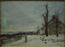 A.Sisley, Schnee in Veneux-Nadon von AKG  Images