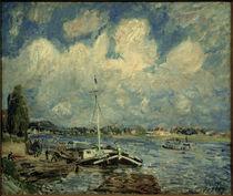 A.Sisley, Boote auf der Seine by AKG  Images