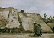 v. Gogh / Hut w. working peasant woman/1885 by AKG  Images