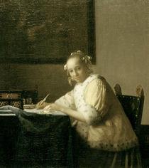 Vermeer, Briefschreiberin in Gelb von AKG  Images