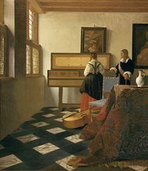 Vermeer / The Music Lesson /  c. 1662/64 by AKG  Images