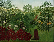H.Rousseau / Tropical Forest with monkey by AKG  Images