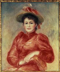 A.Renoir, Jeune femme aux corsage rouge von AKG  Images