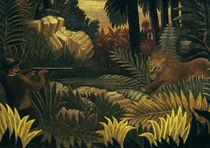 Rousseau, H. / Die Löwenjagd/ 1900–1907 von AKG  Images