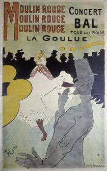 Toulouse-Lautrec / La Goulue / Plakat von AKG  Images