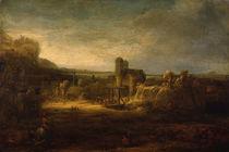 Rembrandt / Landschaft mit Zugbrücke/1640 von AKG  Images