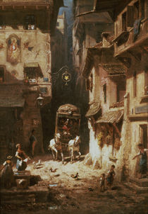Spitzweg, The Post /  c. 1880 by AKG  Images