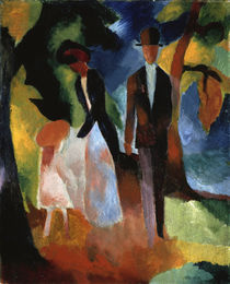 August Macke, People by a Blue Lake / 1913 by AKG  Images