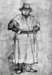Rembrandt / Self-Portrait in Smock/c. 1654 by AKG  Images