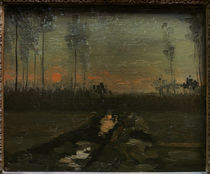 v. Gogh / Sunset / 1885 by AKG  Images