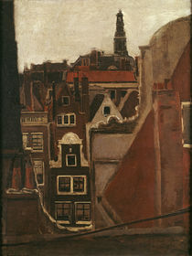"M. Liebermann, ""Rooftops of Amsterdam"" / painting,1876 by AKG  Images"
