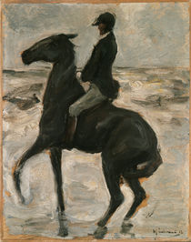 "M.Liebermann, ""Rider on a beach, facing left"" / painting by AKG  Images"