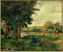 Renoir / Ile de France landscape /c. 1885 by AKG  Images