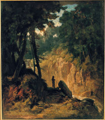 Carl Spitzweg / Forest with Monk / 1855 by AKG  Images