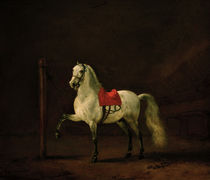 P.Wouwerman, White Horse in the Stable, 1668 by AKG  Images