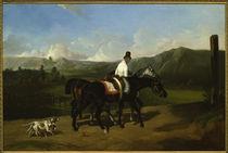 A. De Dreux, Ausritt / Gemälde, 1852 von AKG  Images