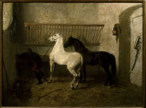 The Kick, or Stable Interior / A.Lugardon / Painting 1855 by AKG  Images