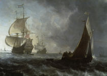 Backhuysen / Holländ. Kriegsschiffe/1671 by AKG  Images