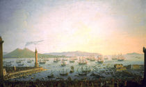 Einschiffung Karls III. in Neapel / Joli by AKG  Images