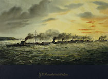Torpedo Boat Division / Lithograph by AKG  Images
