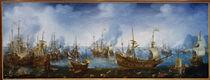 Naval battle nr Gibraltar, 1607 / Wieringen by AKG  Images