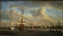 W. v. d. Velde, The Gouden Leeuw on t. Ij by AKG  Images