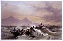 Schiffsunglück vor Vera Cruz / Litho. von AKG  Images