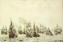 Seeschlacht bei Livorno 1653 / v. de Velde von AKG  Images