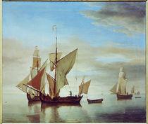 W. van de Velde, Schiffe auf ruhiger See von AKG  Images
