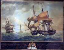 Two English Warships Meeting / A. Roux by AKG  Images