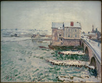 Sisley / Bridge of Moret in the Winter by AKG  Images