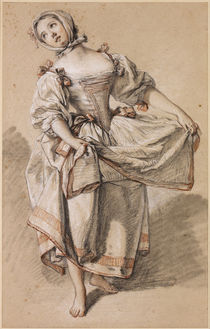 Dancing Country Girl / F. Boucher / Drawing, c.1765 by AKG  Images